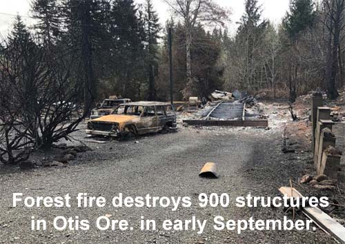 Fire ravages Otis Oregon